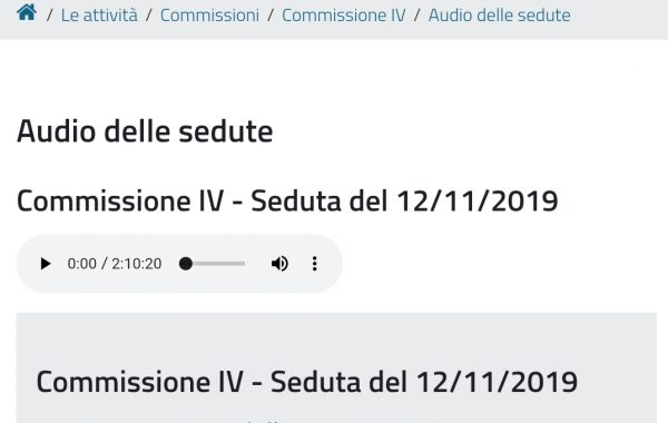 Intervento audio  In Regione Emilia Romagna Sanità